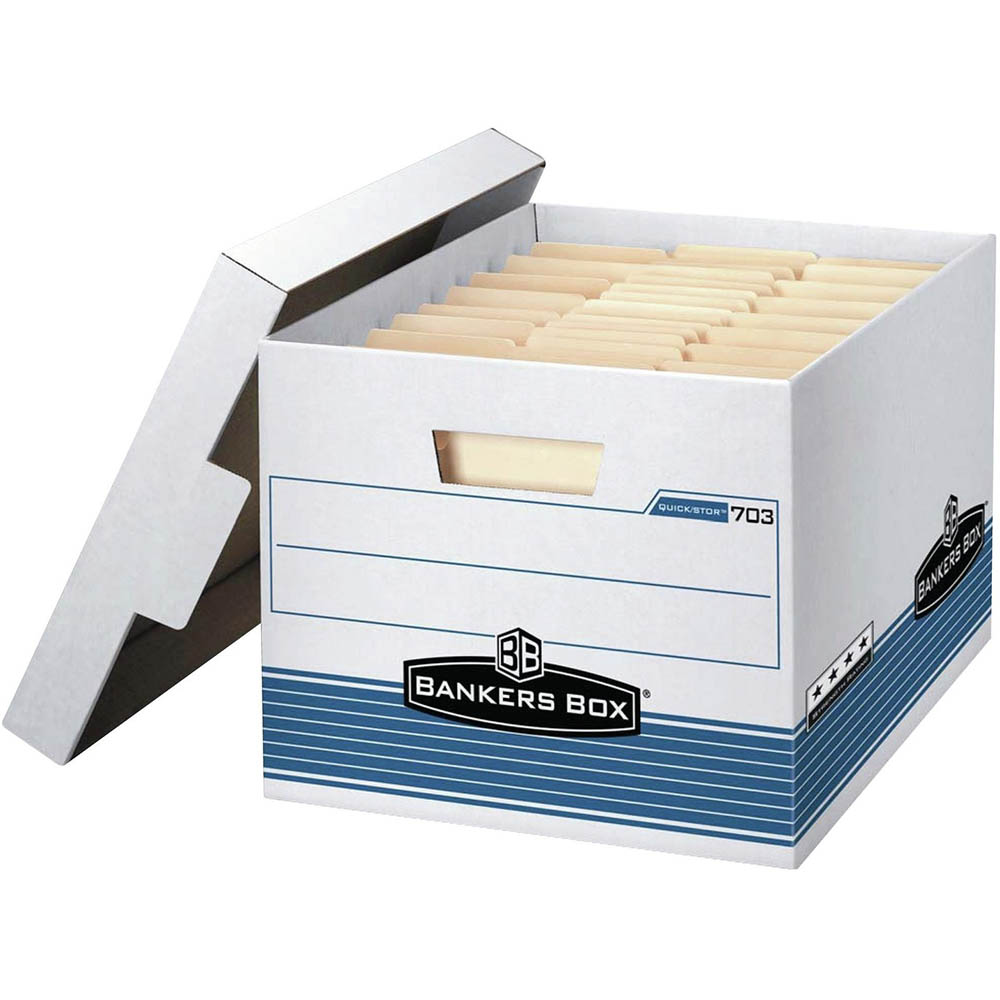 Image for FELLOWES 703 EXTRA STRENGTH BANKERS ARCHIVE BOX 262 X 311 X 391MM from Paul John Office National