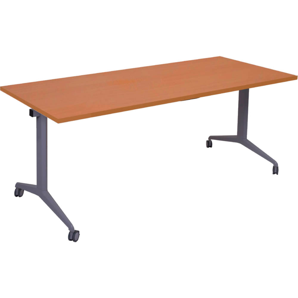 Image for RAPIDLINE FLIP TOP TABLE 1800 X 750MM CHERRY from Mackay Business Machines (MBM)