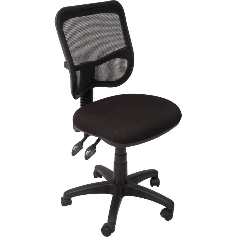 Image for RAPIDLINE OPERATOR CHAIR MEDIUM MESH BACK BLACK from Holiday Coast Office
