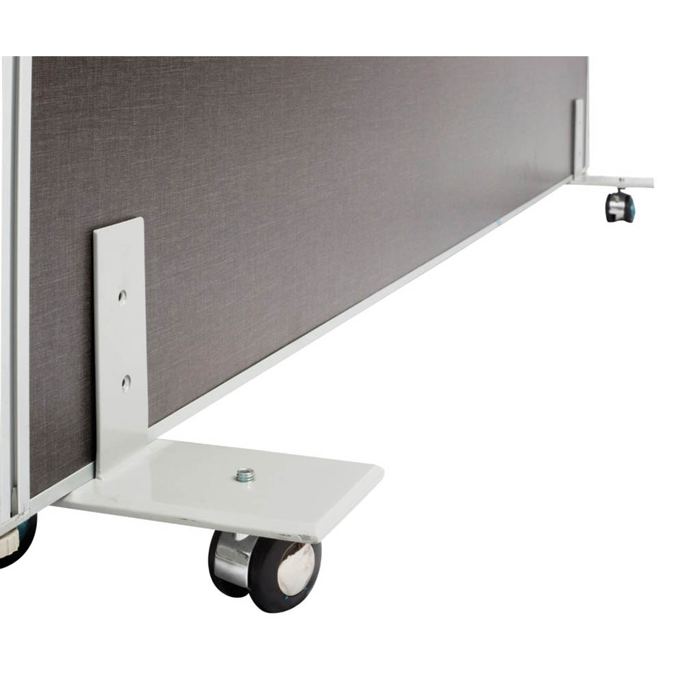 Image for RAPID SCREEN FREESTANDING FOOT WITH CASTORS GREY from Pirie Office National