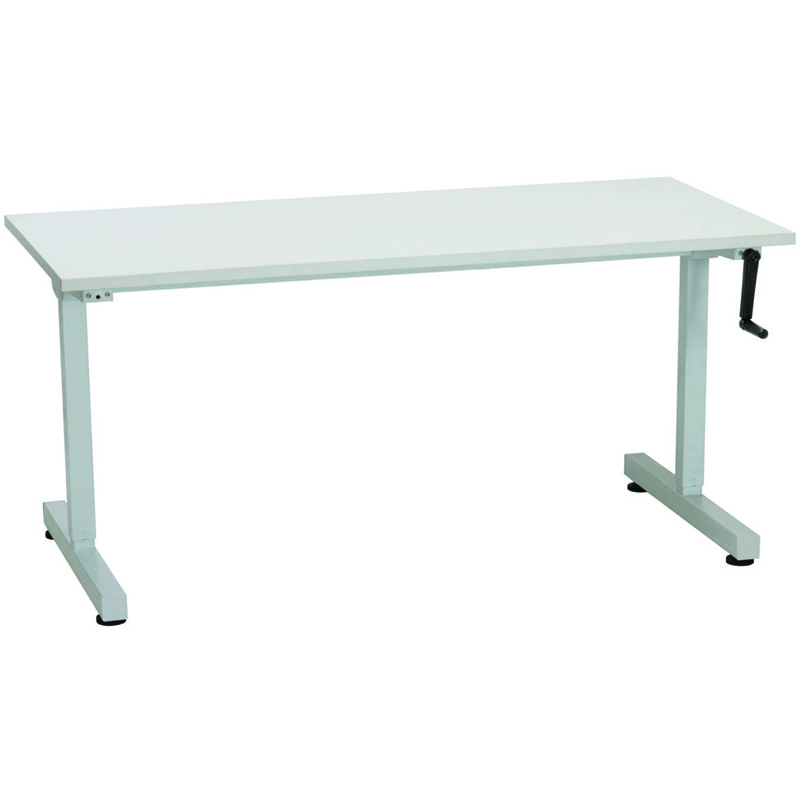 Image for RAPIDLINE TRIUMPH MANUAL HEIGHT ADJUSTABLE WORKSTATION 1500 X 700 X 715MM WHITE from Wetherill Park / Smithfield Office National