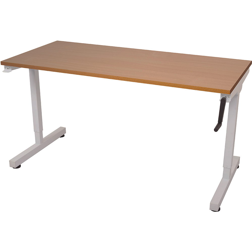 Image for RAPIDLINE TRIUMPH MANUAL HEIGHT ADJUSTABLE WORKSTATION 1800 X 700 X 715MM BEECH from Wetherill Park / Smithfield Office National