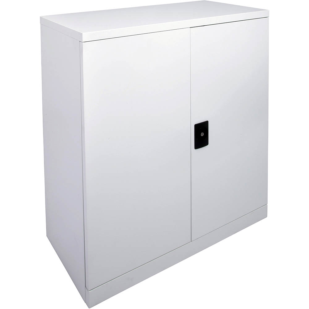 Image for INITIATIVE STATIONERY CUPBOARD 2 SHELVES 910 X 450 X 1015MM SILVER GREY from Wetherill Park / Smithfield Office National
