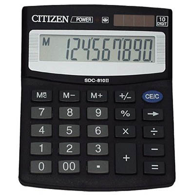 Image for CITIZEN SDC-810DII 10 DIGIT DESKTOP CALCULATOR from Office National Capalaba