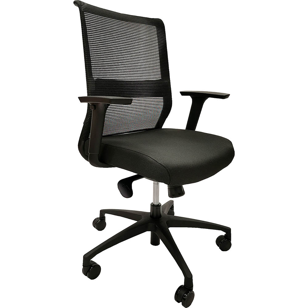 Image for ONYX TASK CHAIR MESH BACK BLACK from Mitronics Corporation