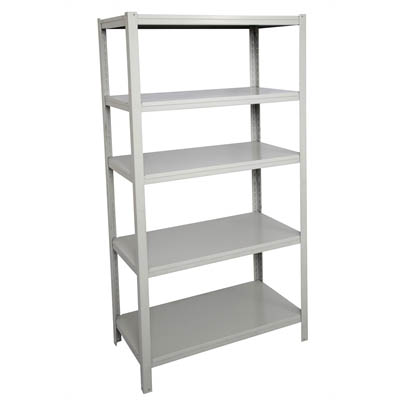 Image for RAPIDLINE BOLTLESS SHELVING UNIT 5 SHELVES 1830 X 914 X 457MM SILVER GREY from Our Town & Country Office National