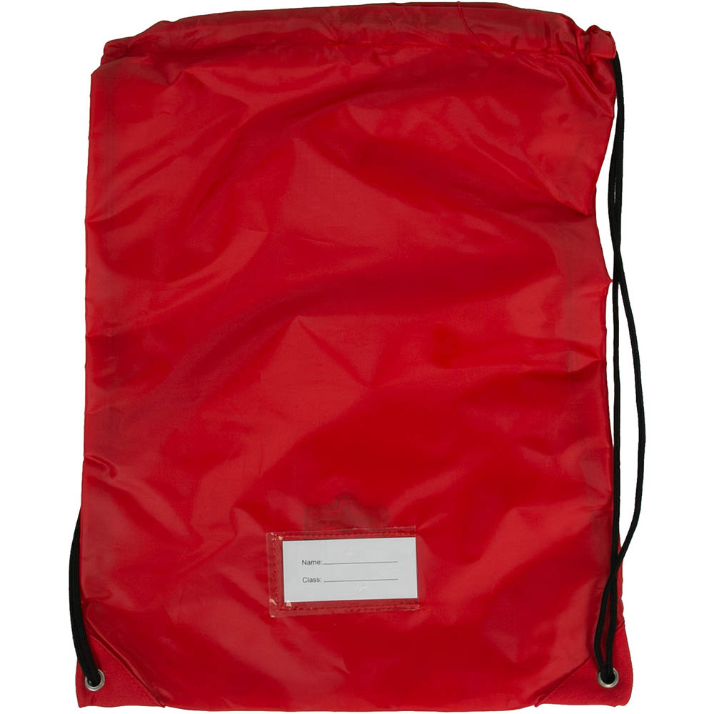 Image for EDUCATIONAL COLOURS GYM BAG RED from Office National Kalgoorlie