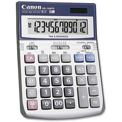 Image for CANON DESKTOP CALCULATOR HS1200TS 12 DIGIT from Office National Capalaba
