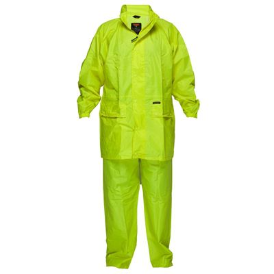 Image for PRIME MOVER MS939 HI VIS WET WEATHER JACKET AND PANT SUIT from Office National Port Augusta