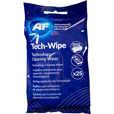 Image for AF MOBILE TECHNOLOGY CLEANING WIPES PACK 25 from Pirie Office National