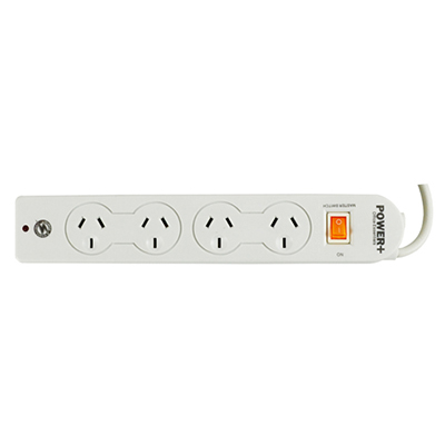 Image for ITALPLAST POWER BOARD 4 OUTLET WITH MASTER SWITCH WHITE from Aztec Office National Melbourne