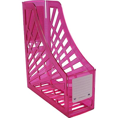 Image for ITALPLAST MAGAZINE STAND TINTED PINK from Office National Capalaba