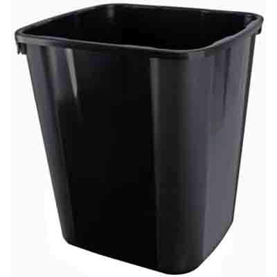Image for ITALPLAST PLASTIC WASTE BIN 32 LITRE BLACK from Pirie Office National