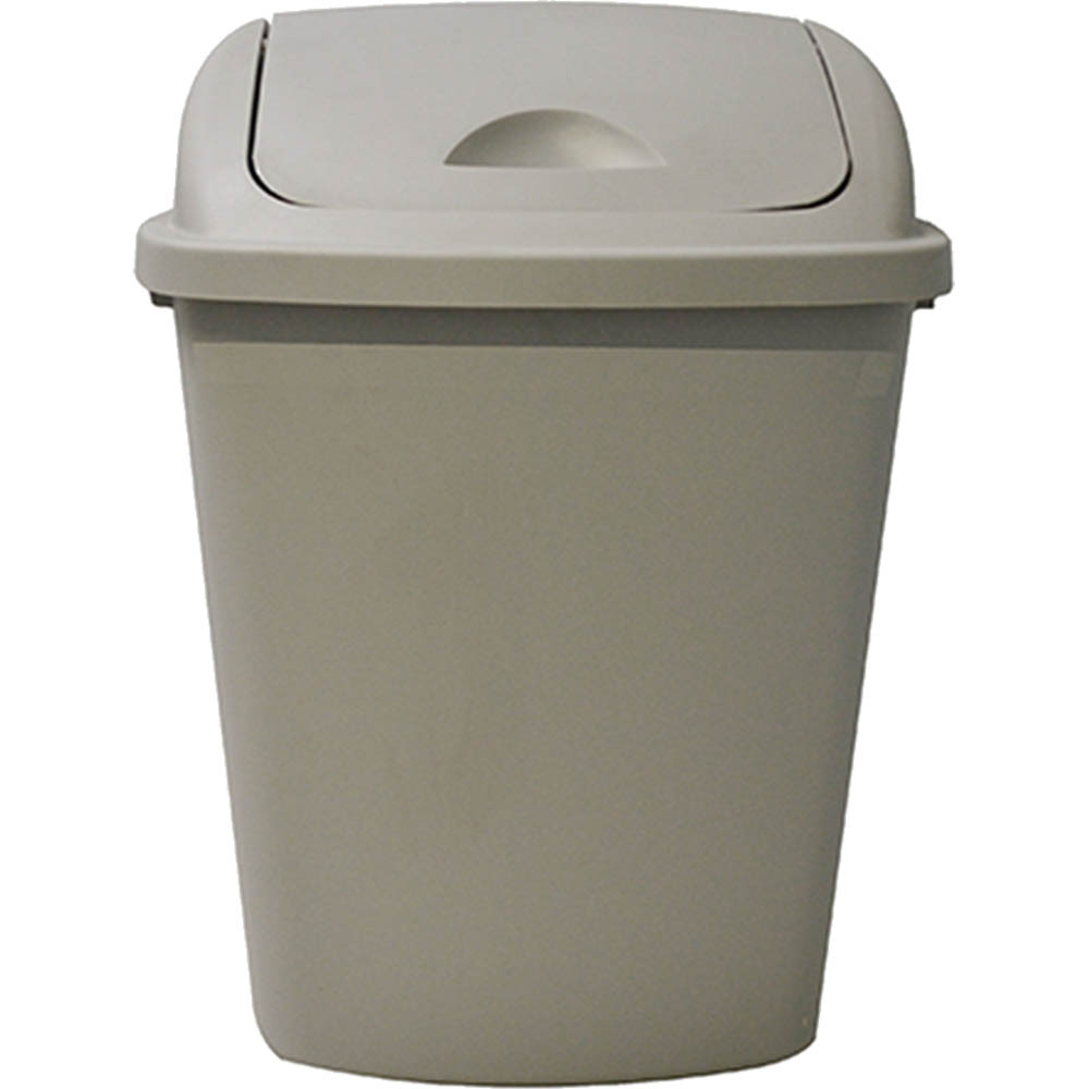 Image for ITALPLAST SWING TOP BIN HEAVY DUTY 42 LITRE GREY from Pirie Office National