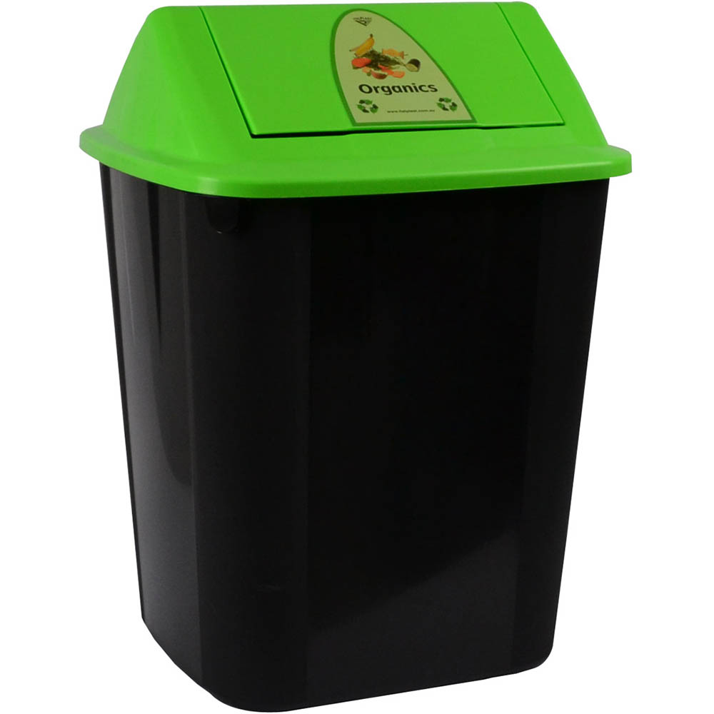 Image for ITALPLAST WASTE SEPARATION BIN WITH SWING TOP LID 32 LITRE ORGANICS from The Paper Bahn Office National