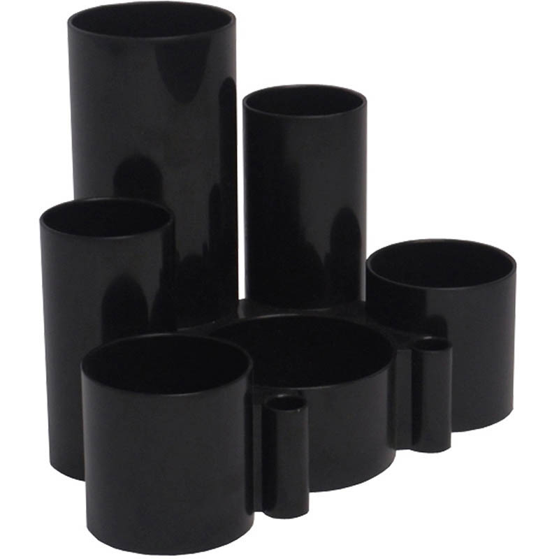 Image for ITALPLAST DESK TIDY 6 COMPARTMENT BLACK from Axsel Office National