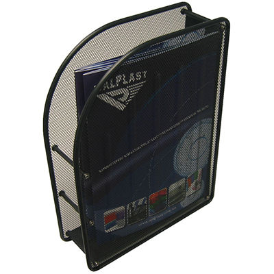 Image for ITALPLAST MAGAZINE STAND WIRE MESH BLACK from Axsel Office National