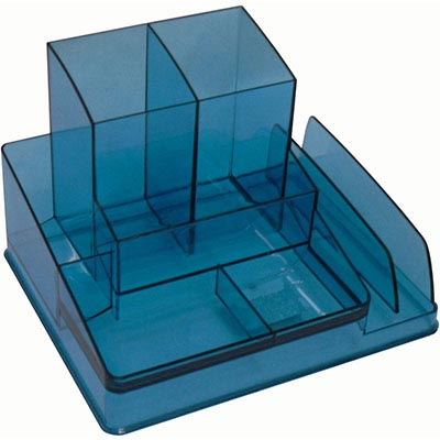 Image for ITALPLAST DESK ORGANISER TINTED BLUE from Office National Perth CBD