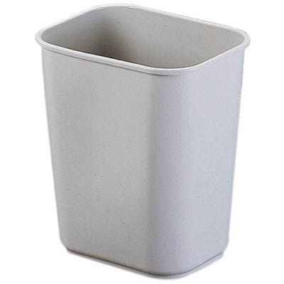 Image for JASTEK PLASTIC RECTANGULAR WASTE BIN 26.5 LITRE GREY from Axsel Office National
