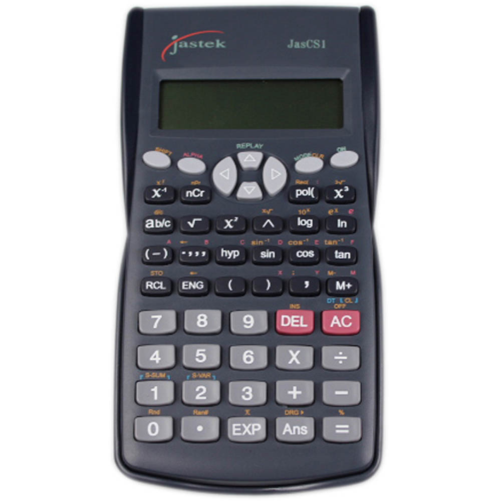 Image for JASTEK SCIENTIFIC CALCULATOR 10+2 DIGIT WITH COVER from Our Town & Country Office National