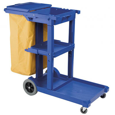 Image for OATES JANITOR TROLLEY DARK BLUE WITH LID from Office National Limestone Coast