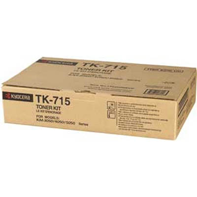 Image for KYOCERA TK715 TONER CARTRIDGE BLACK from Surry Office National