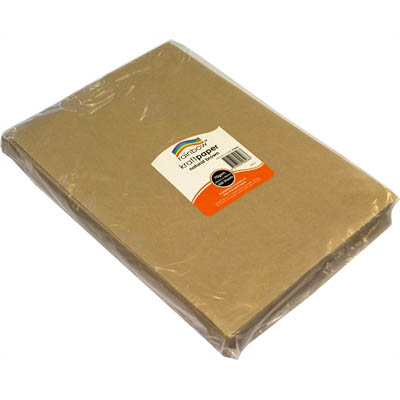 Image for RAINBOW PAPER 70GSM 255 X 380MM KRAFT BROWN PACK 500 from Exchange Printers Office National