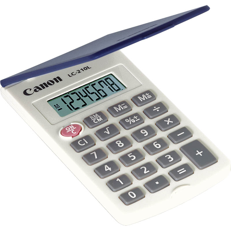 Image for CANON LC210L CALCULATOR 8 DIGIT X LARGE DISPLAY HARD COVER from Pirie Office National