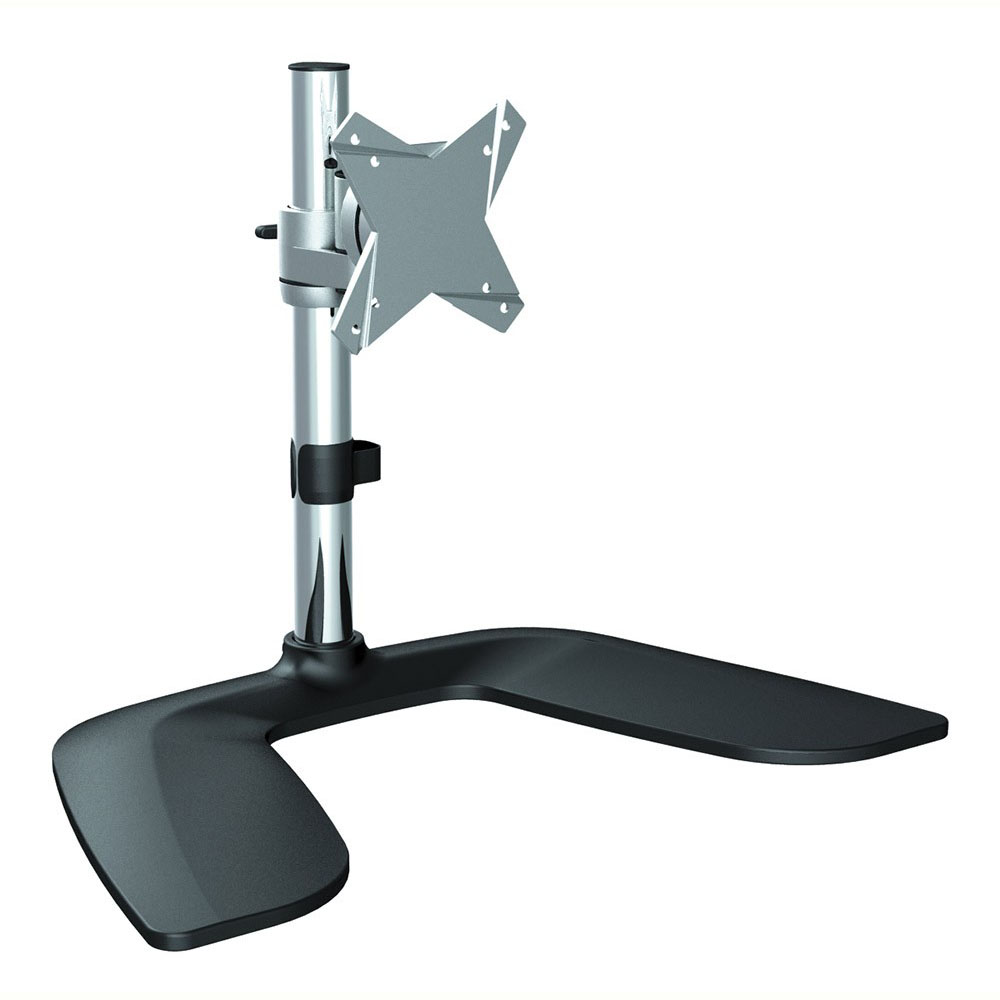 Image for BRATECK SINGLE MONITOR DESKTOP STAND BLACK/SILVER from Pirie Office National