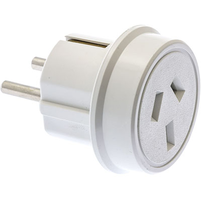 Image for MOKI AU / NZ TRAVEL ADAPTOR FOR EUROPE WHITE from Office National Sydney Stationery