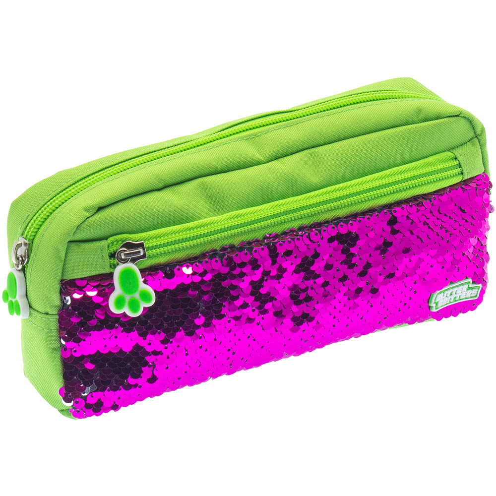 Image for GLITTER CRITTERS PATME PENCIL CASE GREEN from Office National Perth CBD