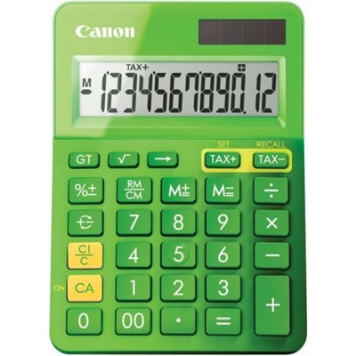 Image for CANON LS-123M CALCULATOR 12 DIGIT DUAL POWER METALLIC GREEN from Pirie Office National