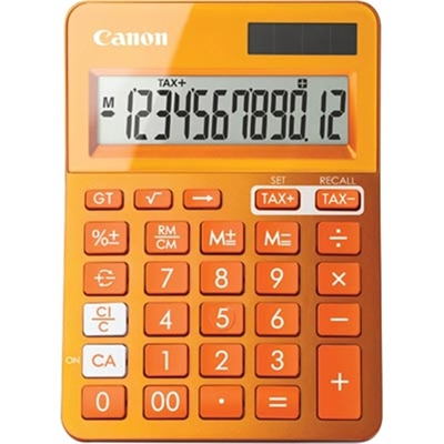 Image for CANON LS-123M CALCULATOR 12 DIGIT DUAL POWER METALLIC ORANGE from Pirie Office National