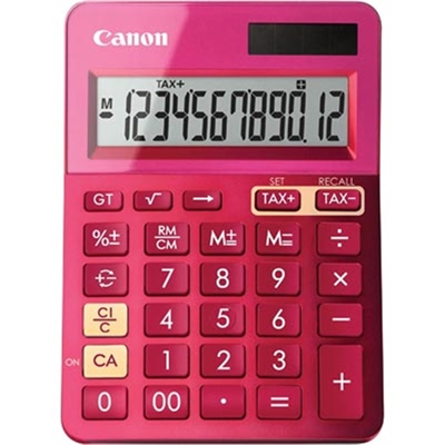 Image for CANON LS-123M CALCULATOR 12 DIGIT DUAL POWER METALLIC PINK from Pirie Office National