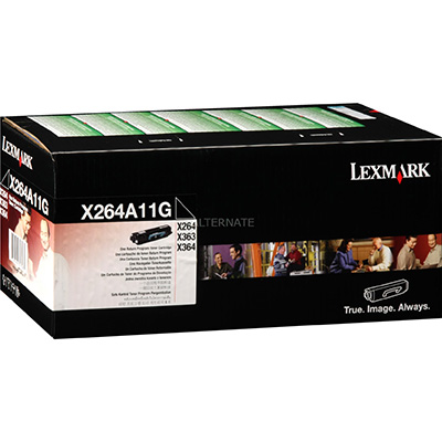 Image for LEXMARK X264A11G TONER CARTRIDGE BLACK from Wetherill Park / Smithfield Office National