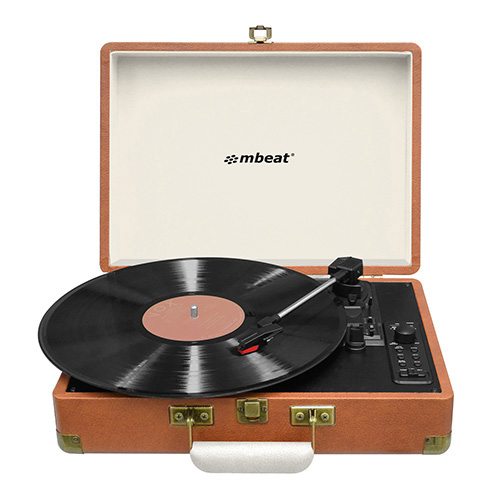 Image for MBEAT WOODSTOCK RETRO TURNTABLE RECORDER WITH BLUETOOTH USB DIRECT RECORDING from Our Town & Country Office National