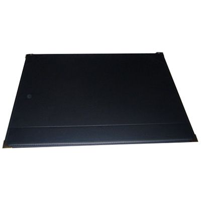 Image for CUMBERLAND DESK MAT EXECUTIVE WITH STRIP AND CORNERS STITCHED/GOLD CORNERS 487 X 610MM PVC BLACK from Office National Perth CBD