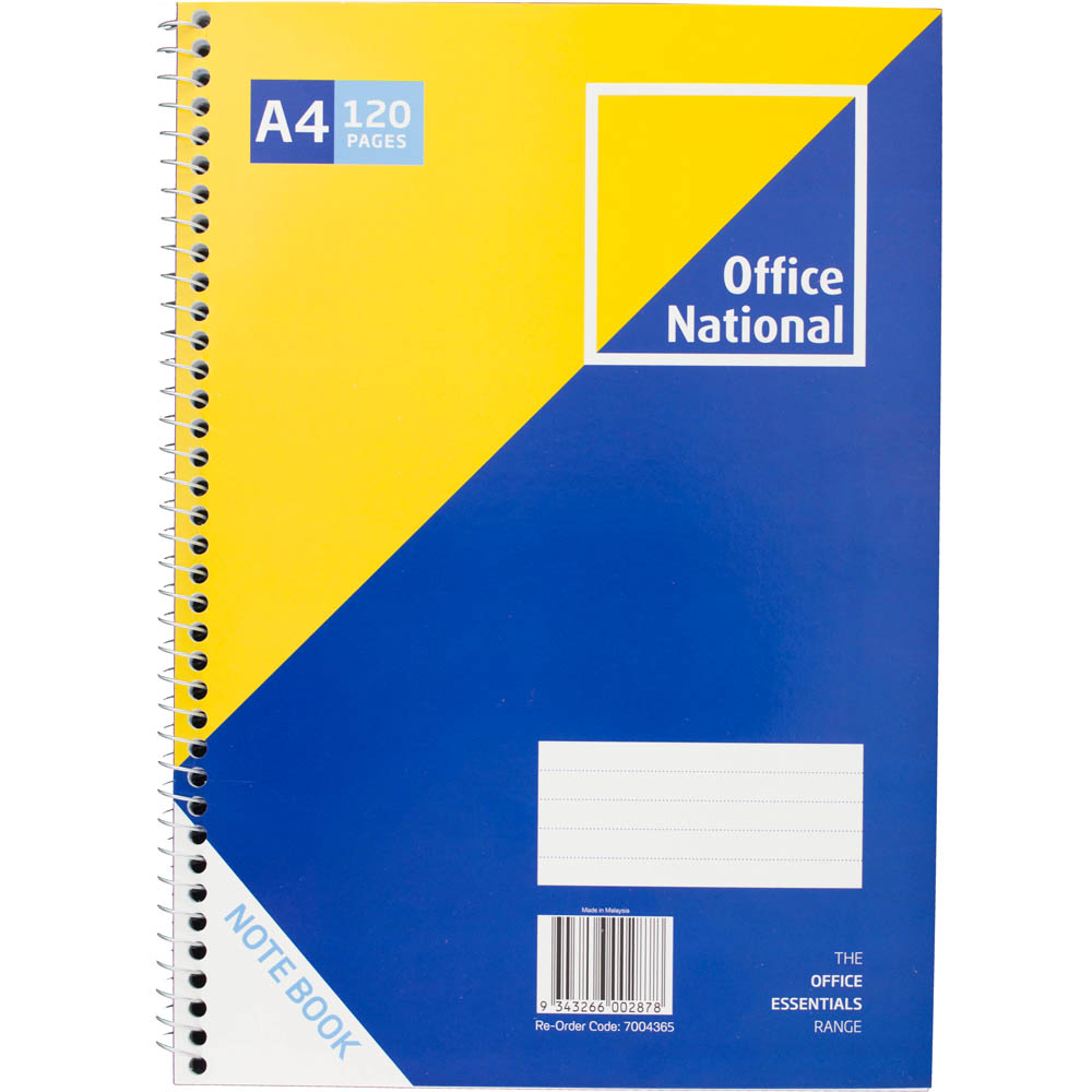 Image for OFFICE NATIONAL PREMIUM NOTEBOOK SIDEBOUND 120 PAGE A4 from Office National Perth CBD
