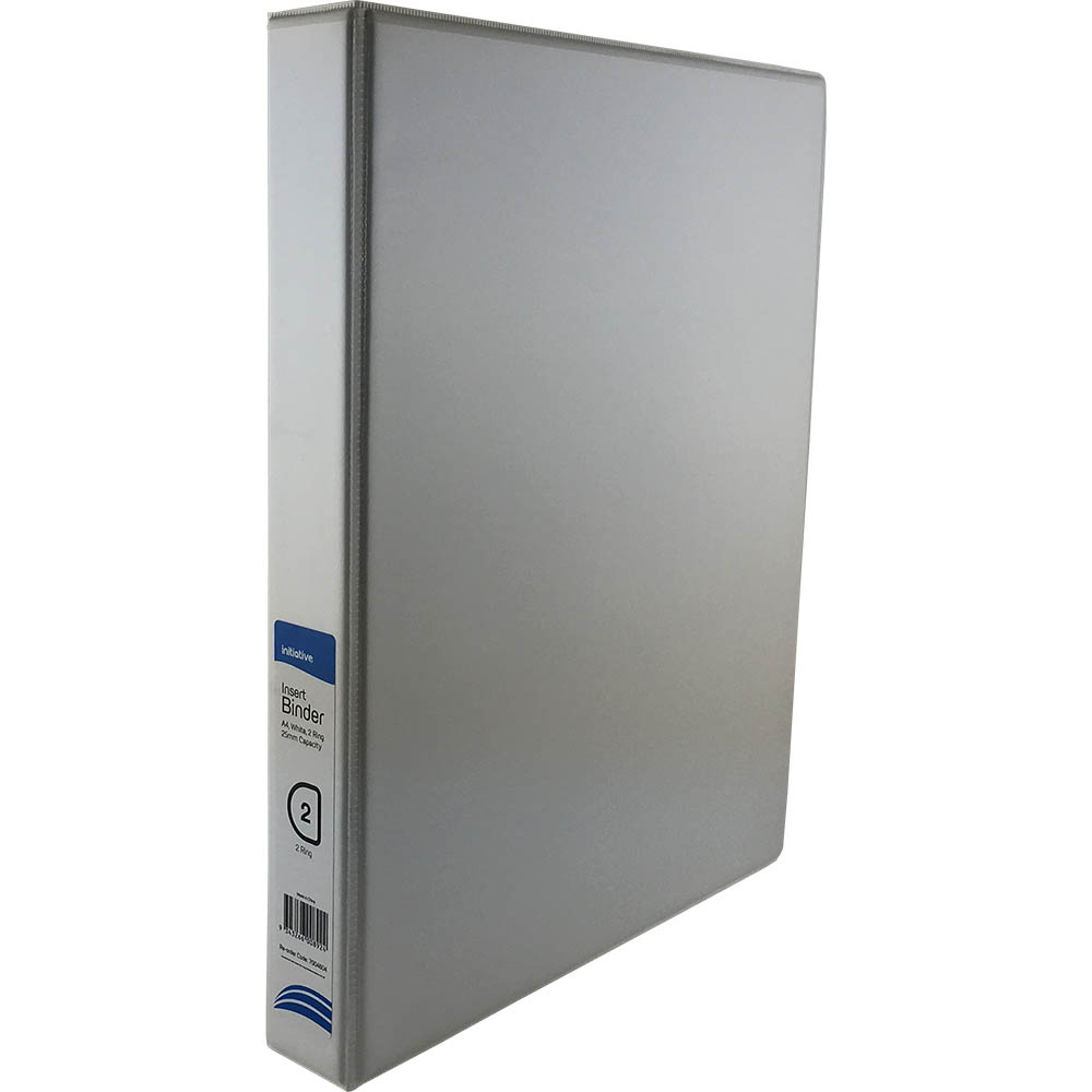 Image for INITIATIVE INSERT RING BINDER 2D 25MM A4 WHITE from Wetherill Park / Smithfield Office National