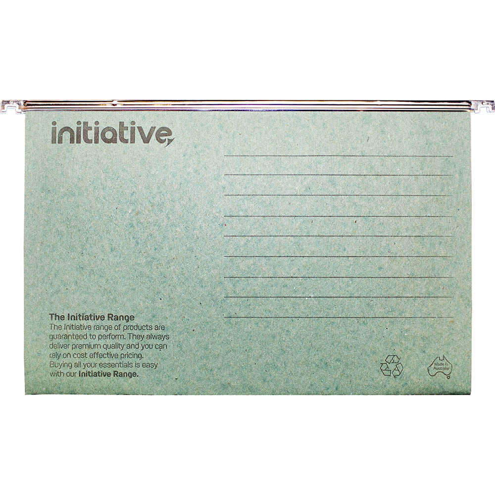 Image for INITIATIVE EASYGLIDE SUSPENSION FILES FOOLSCAP GREEN BOX 50 from Exchange Printers Office National