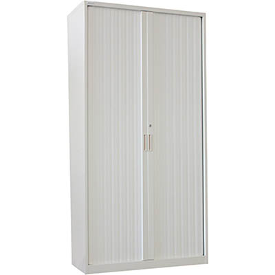 Image for STEELCO TAMBOUR DOOR CABINET 5 SHELVES 2000 X 1200 X 463MM SILVER GREY from Ezi Office National Tweed