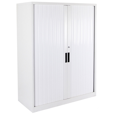 Image for STEELCO TAMBOUR DOOR CABINET 5 SHELVES 2000 X 1200 X 463MM WHITE SATIN from Pirie Office National