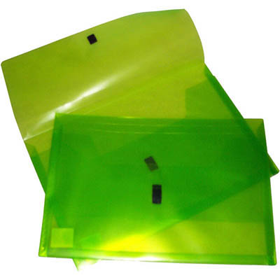 Image for POP POLYWALLY WALLET HOOK AND LOOP CLOSURE 30MM GUSSET FOOLSCAP LIME from Office National Kalgoorlie