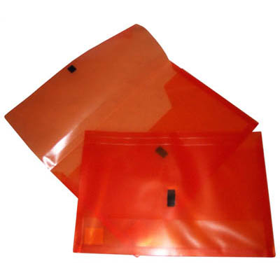 Image for POP POLYWALLY WALLET HOOK AND LOOP CLOSURE 30MM GUSSET FOOLSCAP ORANGE from Office National Kalgoorlie