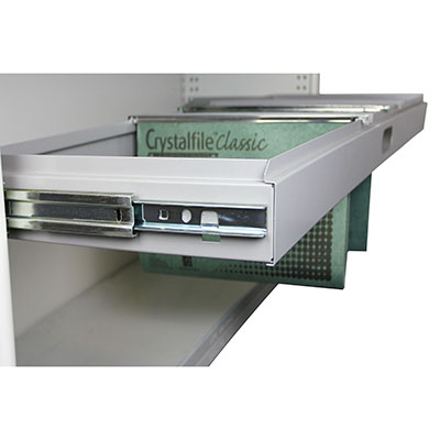 Image for STEELCO AISLE SAVER PULL OUT FILE FRAME 1200W WHITE SATIN from Pirie Office National