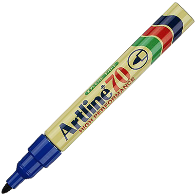 Image for ARTLINE 70 PERMANENT MARKER BULLET 1.5MM BLUE from Office National Perth CBD