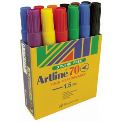 Image for ARTLINE 70 PERMANENT MARKER BULLET 1.5MM ASSORTED BOX 12 from Office National Perth CBD