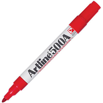 Image for ARTLINE 500A WHITEBOARD MARKER BULLET 2MM RED from Axsel Office National