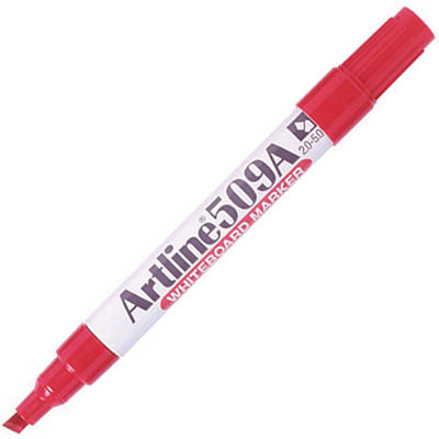 Image for ARTLINE 509A WHITEBOARD MARKER CHISEL 5MM RED from Mackay Business Machines (MBM)