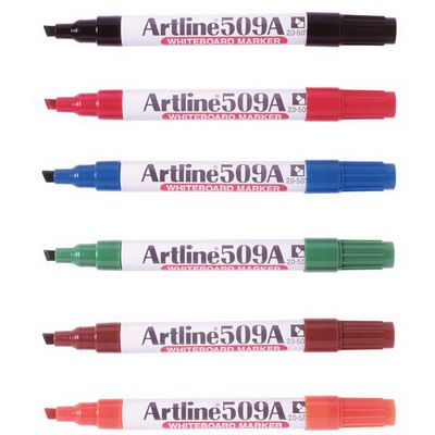 Image for ARTLINE 509A WHITEBOARD MARKER CHISEL 5MM ASSORTED BOX 12 from Mackay Business Machines (MBM)